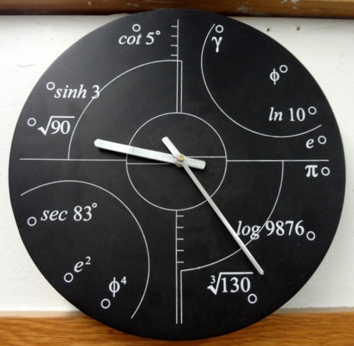 Science Home Decor Math Clock Advanced Math Solve Mathematical Problems Interior Design Ideas