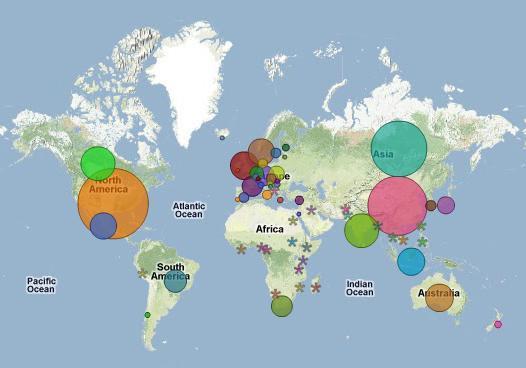 Data Mr Honner - World map data